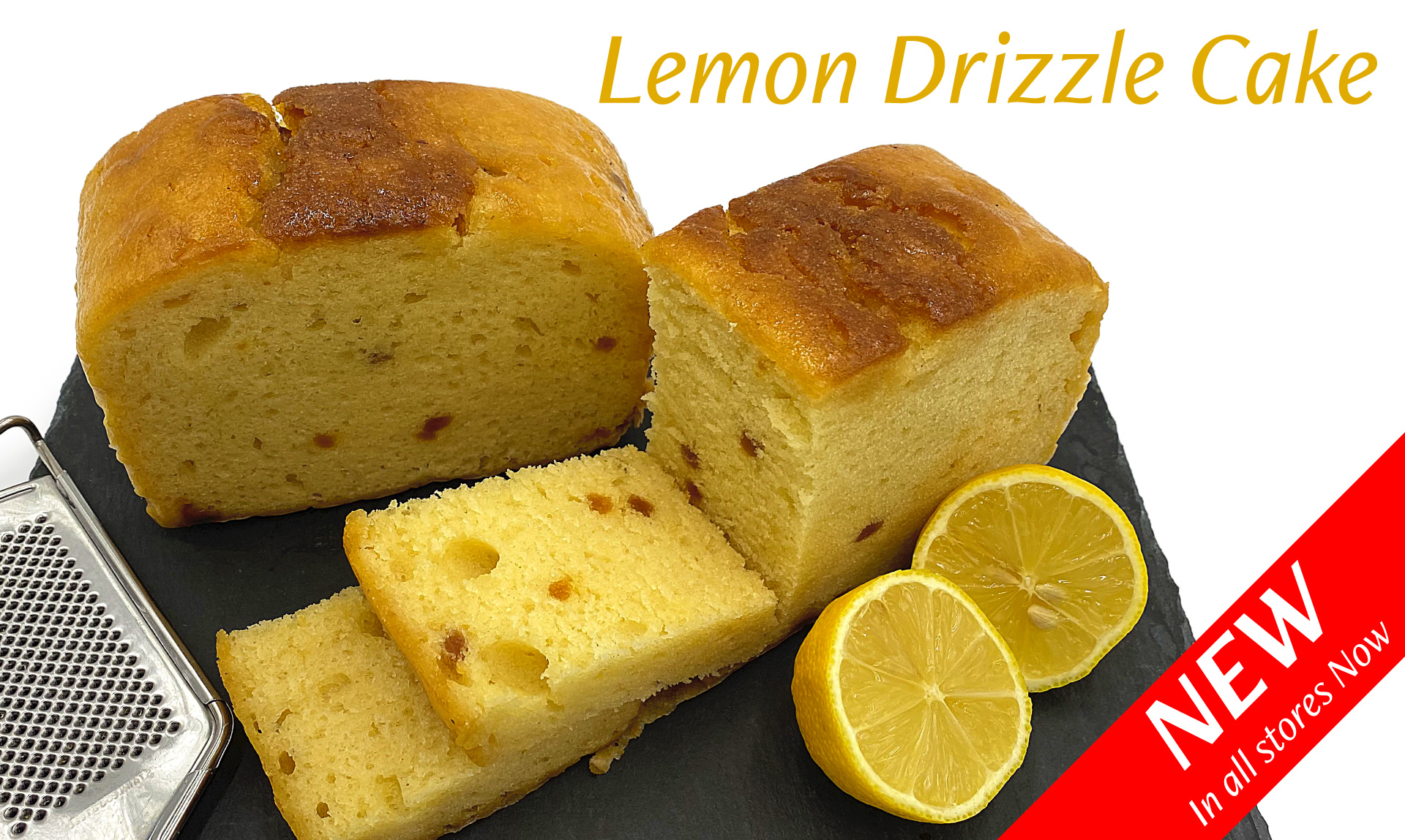 Lemon Drizzle Cake, new in all stores now