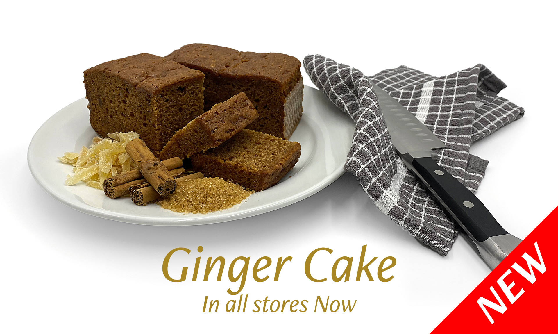 New Ginger Cake in all stores now
