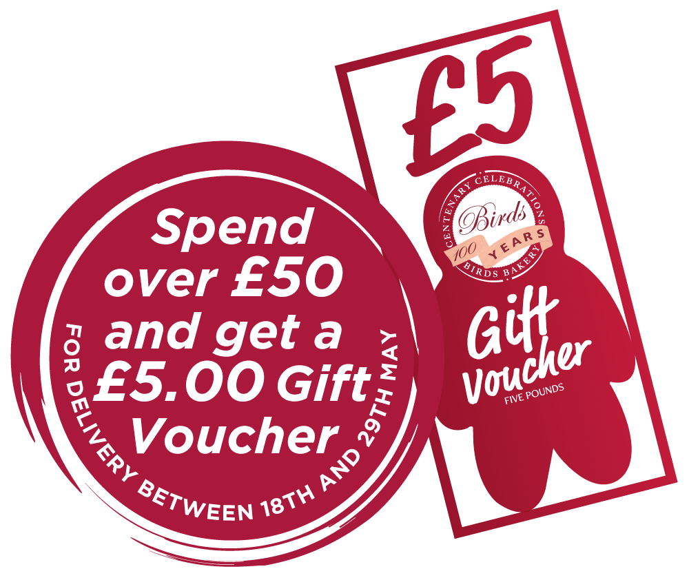 Spend over £50 and get a £5.00 Gift Voucher FOR DELIVERY BETWEEN 18TH AND 29TH MAY