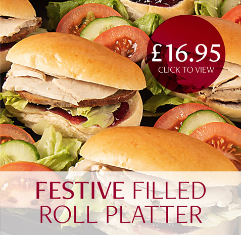 Festive Filled Roll Platter - 16.95
