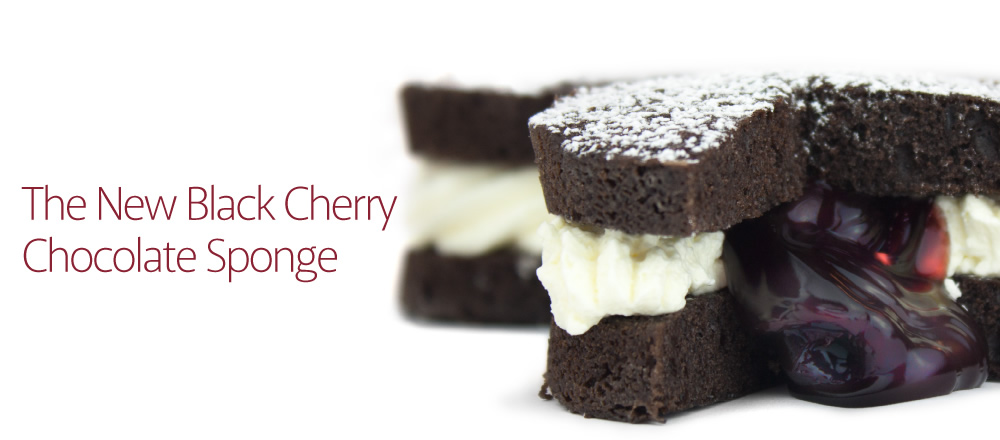 The new black cherry chocolate sponge