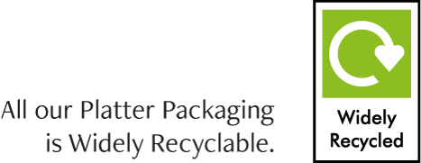 All our Platter Packaging is Widely Recyclable