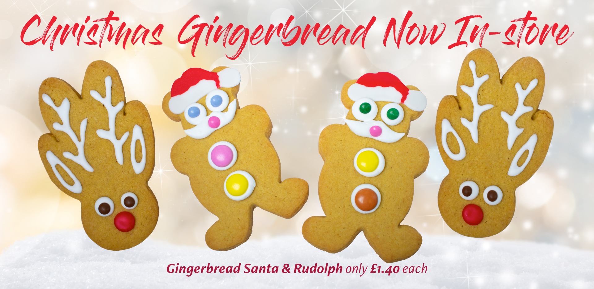 Christmas Gingerbread now in store