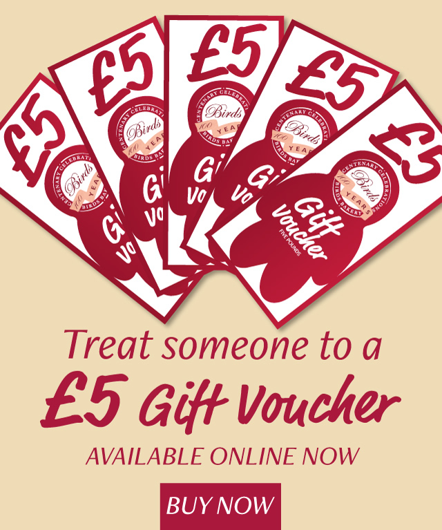 Treat someone to a �5 gift voucher, available online now