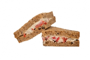 Houmous & Red Pepper Sandwich