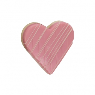 Pink and White Novelty Heart