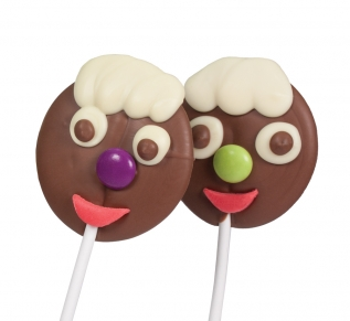 Smiley Chocolate Lolly